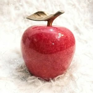 Other - Vintage Red Marble Apple Paperweight / Decor